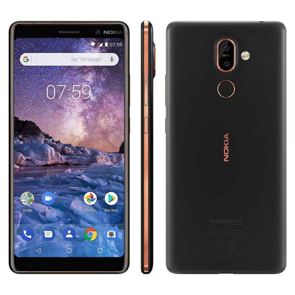 Nokia 7 plus Dual 64 Go TA1046 Noir et Or reconditionné en France